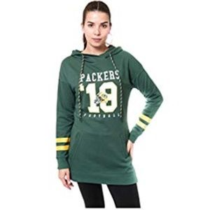 NEW NFL Green Bay Packers HOOD game Women's Green
